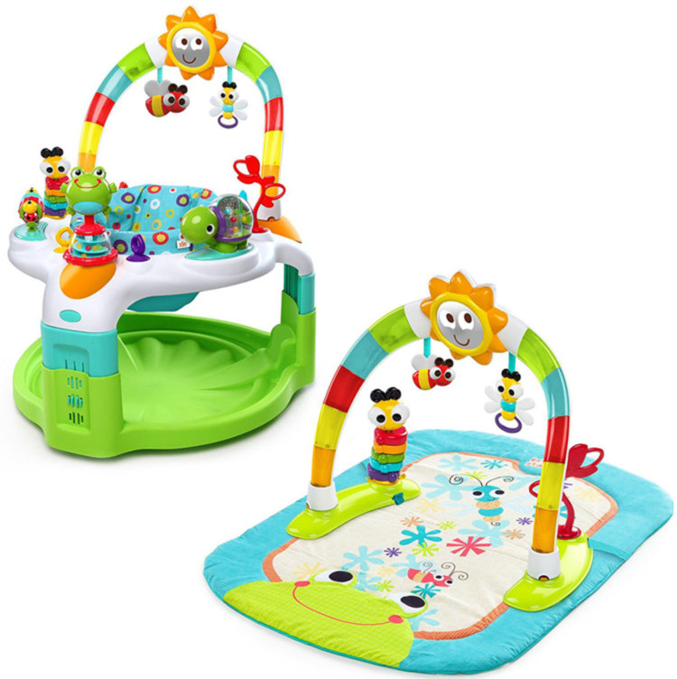 Игровой центр 2 в 1 Laugh & Lights Activity Gym & Saucer 60539 Bright Starts